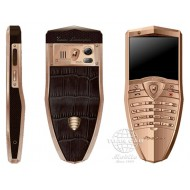Lamborghini TL688 Stainless Steel Rose Gold PVD, Brown Crocodile Leather S670