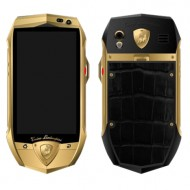Lamborghini TL700 Yellow Gold, Black Croco Leather
