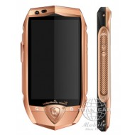 Lamborghini TL702 Rose Gold, Black Croco Leather