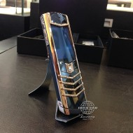 Vertu Signature S Red Gold with Diamond, Black Leather