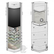 Vertu Signature S White Mother Of Pearl White Alligator
