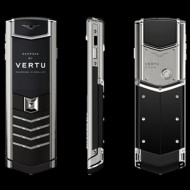 Vertu Signature Stainless Steel Black Calf Assemblies (Bespoke)