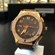 Hublot Big Bang 41mm Earl Gray Diamonds Rose Gold 341.PT.5010.LR.1104 (mới 95%)