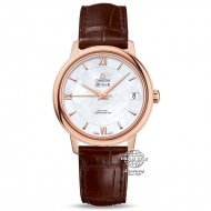 Omega De Ville Prestige Co-Axial Rose Gold Mother of Pearl Dial 424.53.33.20.05.001 (mới 95%)