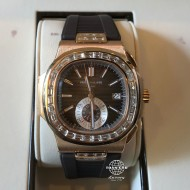 Patek Philippe Nautilus Chronograph Rose Gold Custom Diamond 5980R (mới 98%)