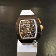 Richard Mille RM 011 Flyback Chronograph Brown Ceramic Rose Gold (mới 95%)