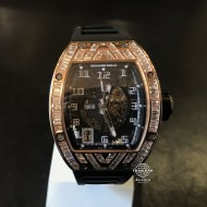Richard Mille RM010 Skeletonised Rose Gold Full Custom Baguette Diamond Pave (mới 95%)