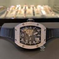 Richard Mille RM010 Skeletonised White Gold Full Diamond Pave (mới 95%)