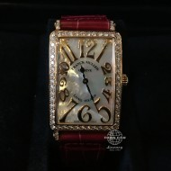 Franck Muller Long Island Rose Gold with Diamond, Mother of Pearl Dial 952 QZ REL MOP D 1R