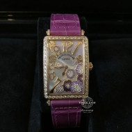 Franck Muller Long Island Rose Gold with Diamonds, Mother of Pearl Dial 952 QZ REL MOP VL D 1R