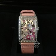Franck Muller Long Island Stainless Steel with Diamonds, Mother of Pearl Dial 952 QZ REL MOP RS D 1R