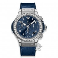 Hublot Big Bang Chronograph Stainless Steel with Diamonds Bezel 341.SX.7170.LR.1204