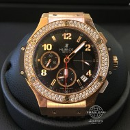 Hublot Big Bang Rose Gold with Bezel Diamond 341.PX.130.RX.114