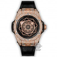 Hublot Big Bang Sang Bleu King Gold Full Diamond Pavé 465.OS.1118.VR.1704.MXM18