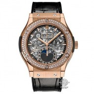 Hublot Classic Fusion Aerofusion Moonphase Aeromoon King Gold 547.OX.0180.LR.1104