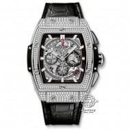 Hublot Spirit Of Big Bang Chronograph Titanium Full Diamond Pave 641.NX.0173.LR.1704