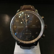 IWC Portuguese Chronograph White Gold with Diamonds IW371473