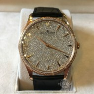 Jaeger-LeCoultre Master Ultra Thin Pink Gold Full Diamond Pave Q1352507