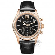 Patek Philippe Complications Chronograph Rose Gold with Diamonds Bezel 5961R-010