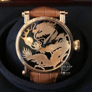 Speake Marin Piccadilly Water Dragon Red Gold with Diamond Set Crown, Onyx Base SMRD102-736