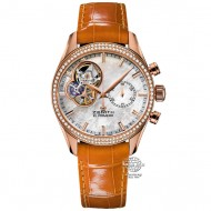 Zenith El Primero Chronomaster Lady Rose Gold Mother of Pearl Dial 22.2150.4062/81.C753