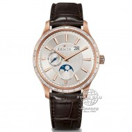 Zenith Elite Captain Moonphase Rose Gold and Baguette Diamonds 22.2141.691/01.C498