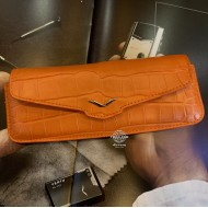 Orange Alligator Horizontal Case With Stainless Steel Logo